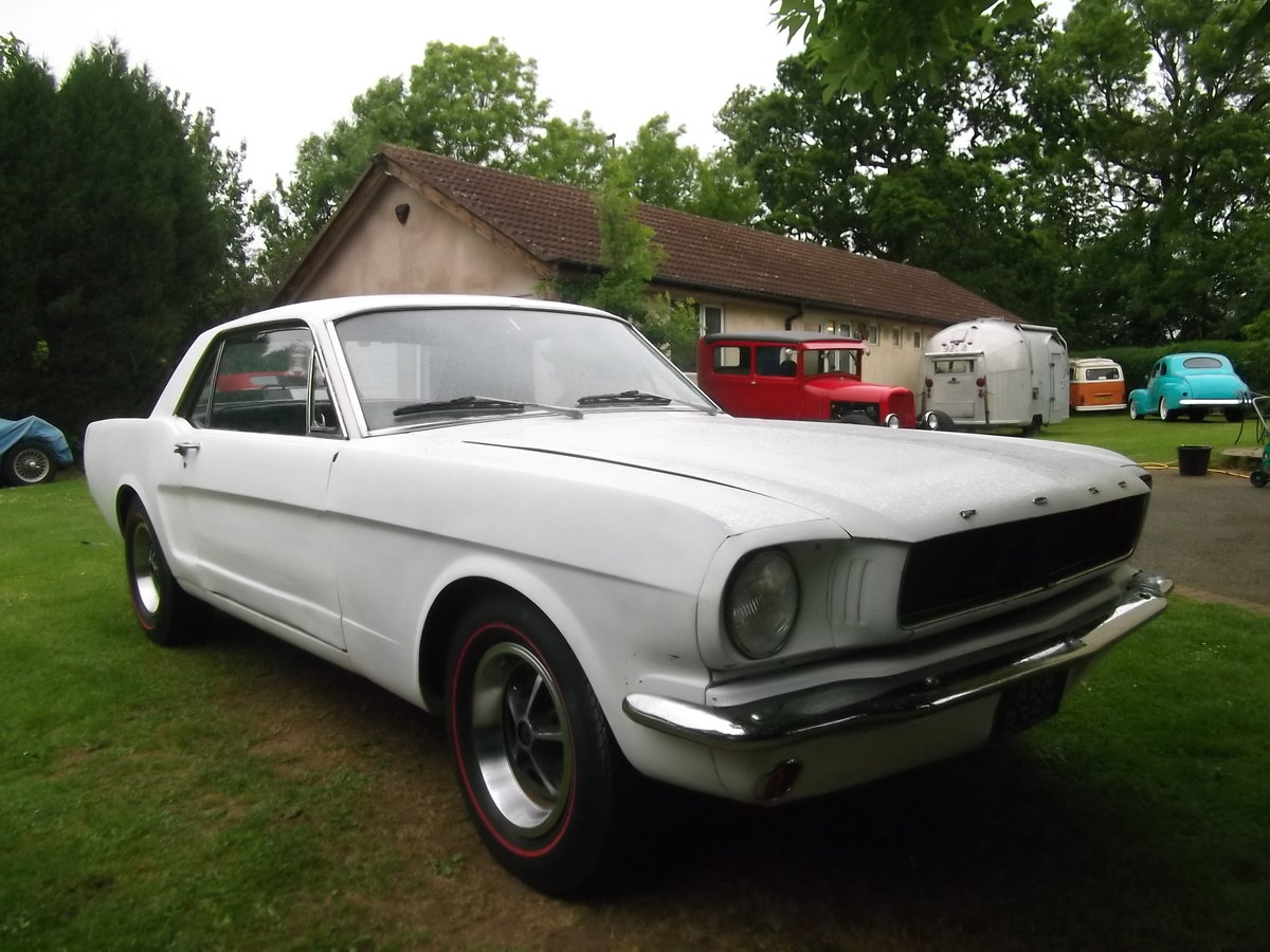 1966 Mustang Coupe 289 V8, C Code, Manual Unfinished Project For Sale (picture 4 of 6)