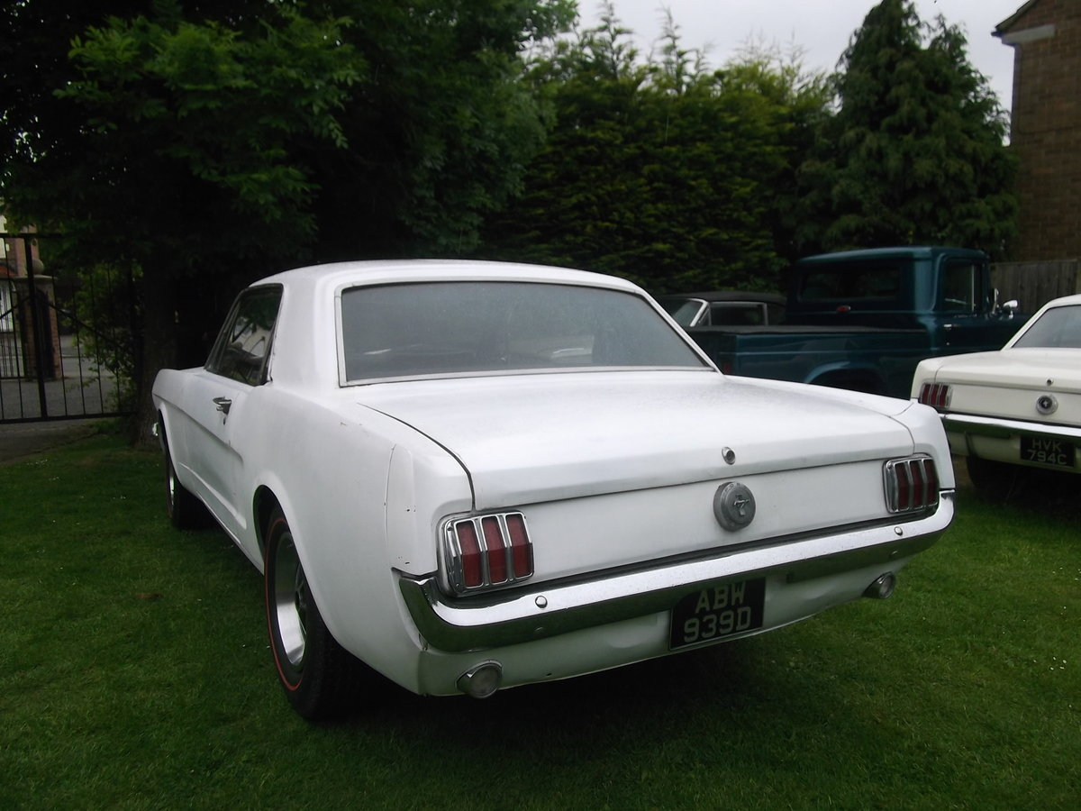 1966 Mustang Coupe 289 V8, C Code, Manual Unfinished Project For Sale (picture 6 of 6)