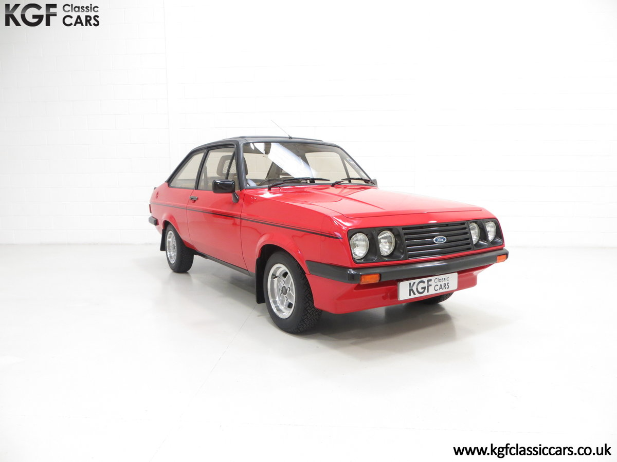 1980 A Ford Escort Mk2 RS2000 Custom with 27,207 Miles SOLD (picture 1 of 6)