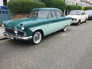 1956 Rare Early Ford Zodiac for sale. For Sale