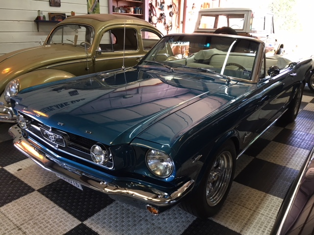1964.5 Ford Mustang Convertible =289 4 speed Restored Blue For Sale (picture 1 of 6)