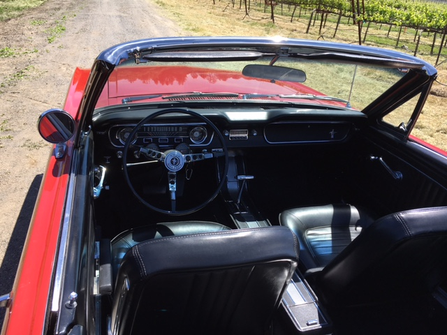 1965 Ford Mustang Convertible = 289 Auto Red Restored $obo For Sale (picture 5 of 6)