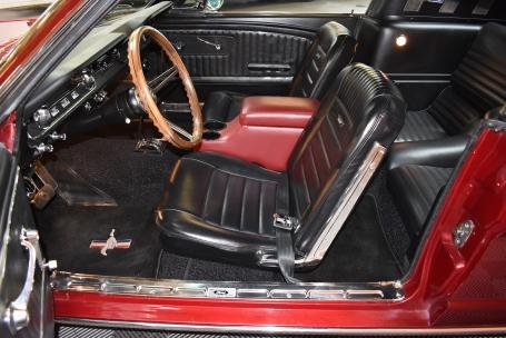 1965 Ford Mustang FastBack = V-8 + Auto Red(~)Black $49.5k  For Sale (picture 3 of 6)