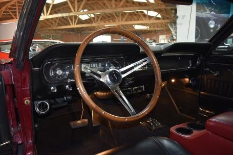 1965 Ford Mustang FastBack = V-8 + Auto Red(~)Black $49.5k  For Sale (picture 4 of 6)