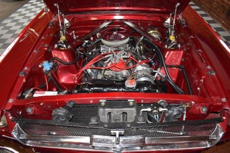 1965 Ford Mustang FastBack = V-8 + Auto Red(~)Black $49.5k  For Sale (picture 5 of 6)