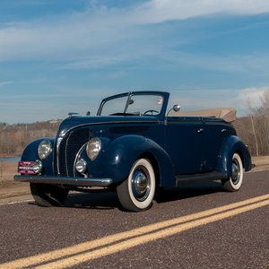 1938 Ford DeLuxe Phaeton = clean Blue(~)Tan Manual $31.9k