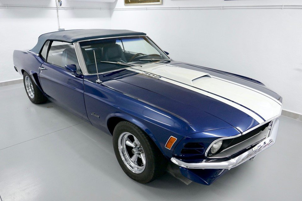 Rare 1970 Ford Mustang 302 Convertible Muscle Car For Sale (picture 2 of 6)