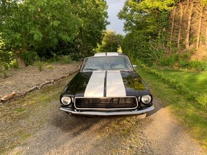 1968 Manual Ford Mustang Diamond Black Metallic Wh For Sale