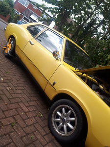 74 mk3 cortina 2 door daytona yellow 2.9 efi 5 spd