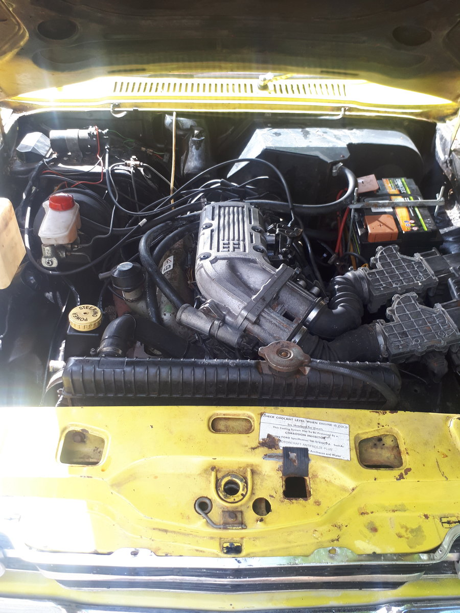 1974 74 mk3 cortina 2 door daytona yellow 2.9 efi 5 spd For Sale (picture 5 of 6)