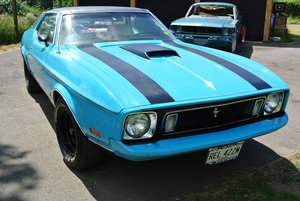 1973 Blue V8 Auto Mustang Grande For Sale