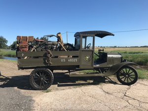 1917 WWI Ford TT pick up and Harley