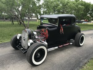 1929 Ford Model A 5 window chopped top High-Boy cpe 350/350  For Sale