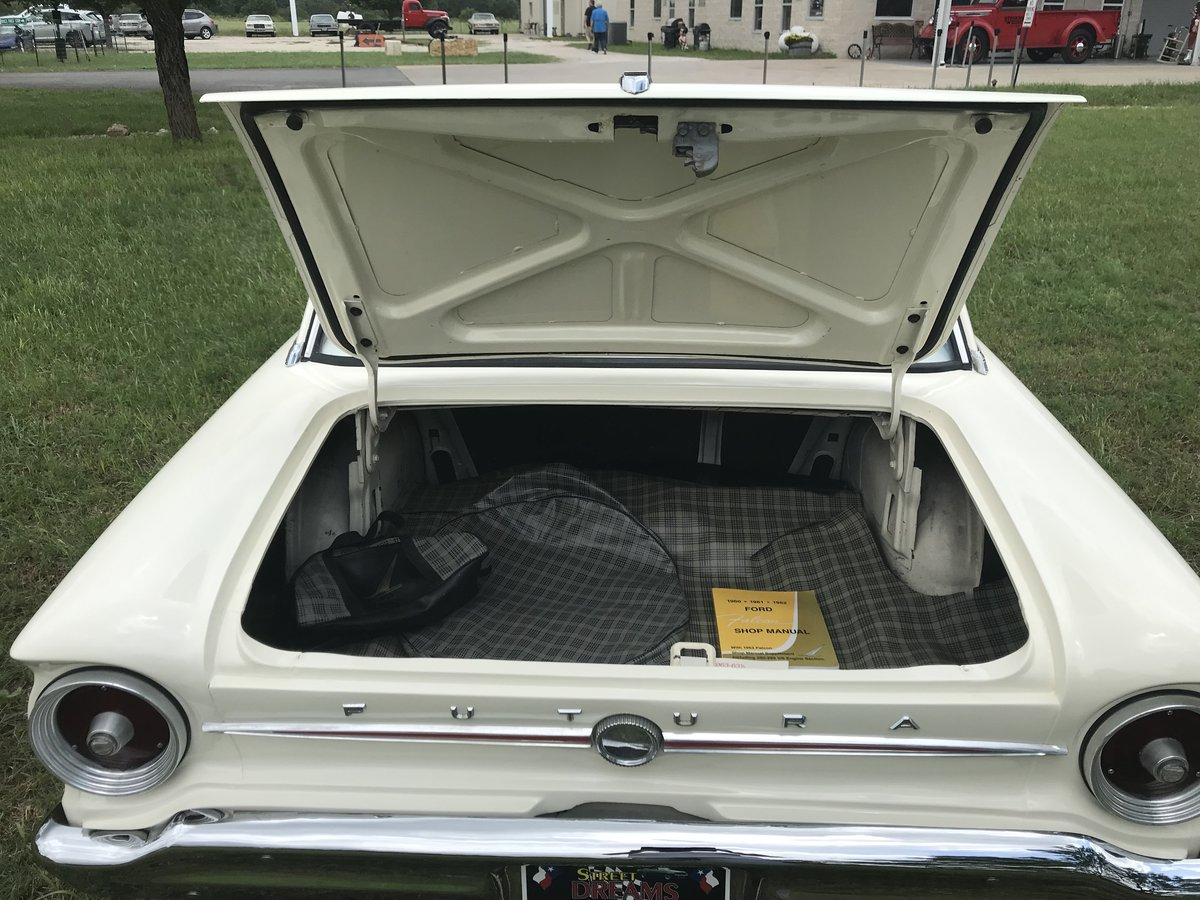 1963 FORD FALCON BUCKETS CONSOLE SKIRTS 4SPD 6 CYL SOLD (picture 5 of 6)