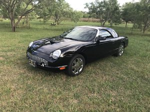 2002 FORD THUNDERBIRD 2DR CONV W/HARDTOP PREMIUM Black For Sale
