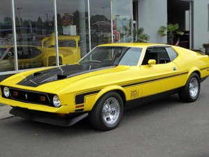 1971 Ford Mustang Mach 1 = Auto 351C Yellow(~)Black  $29.5k For Sale