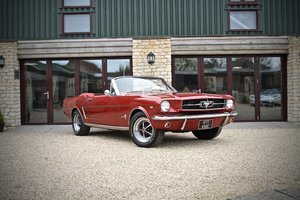 1965 Ford Mustang Convertible 4.7 V8, Candy Red Metallic For Sale