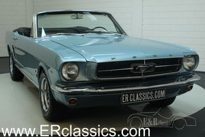 Ford Mustang cabriolet 1965 A-code V8 Silver Blue Metallic For Sale