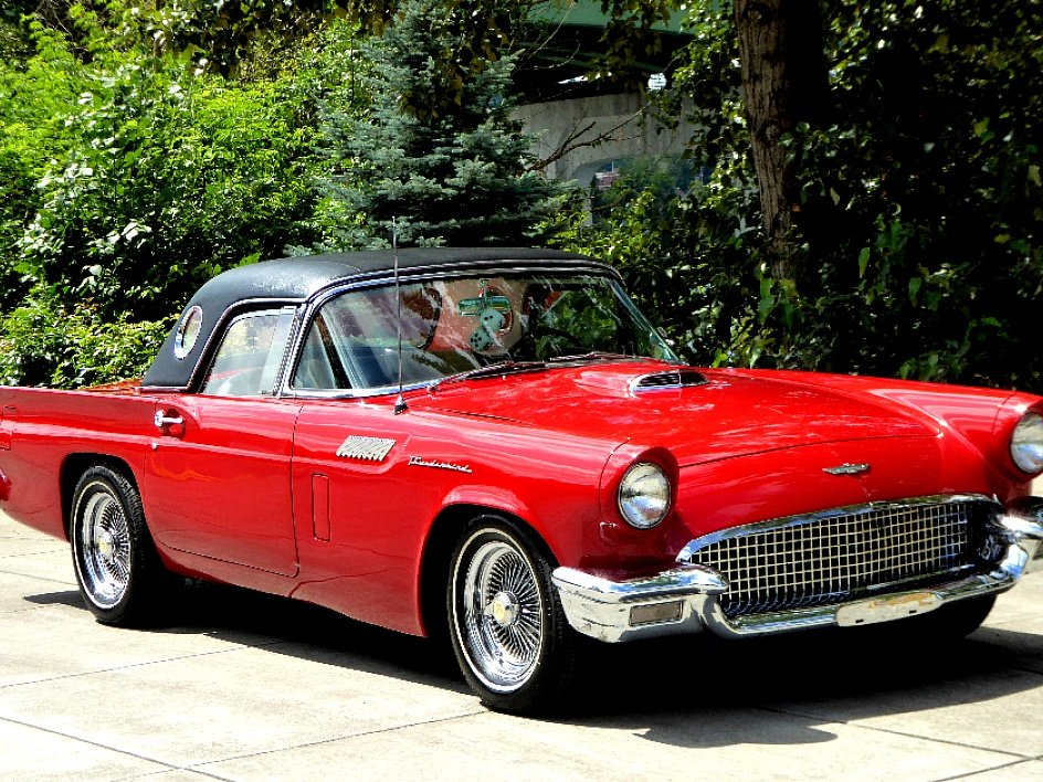 1957 Ford ThunderBird HardTop D-code Clean Red Driver $34.5k For Sale (picture 2 of 6)