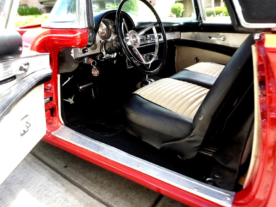 1957 Ford ThunderBird HardTop D-code Clean Red Driver $34.5k For Sale (picture 3 of 6)