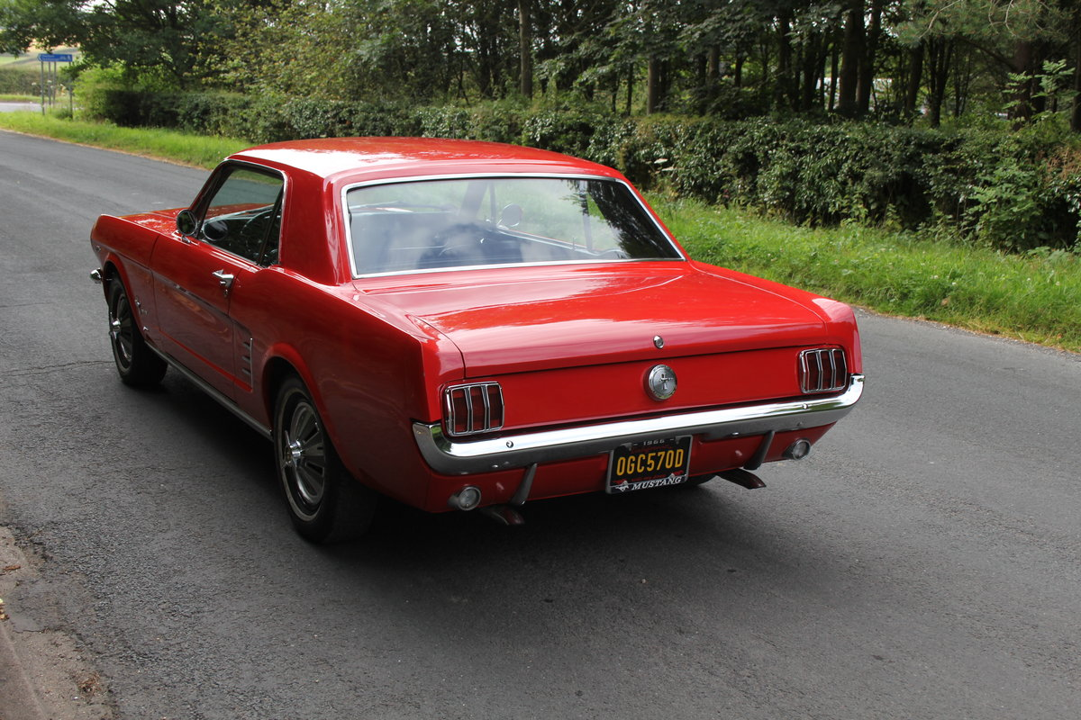 1966 Ford Mustang 289 V8 Coupe - 66k Miles, History from new For Sale (picture 4 of 12)