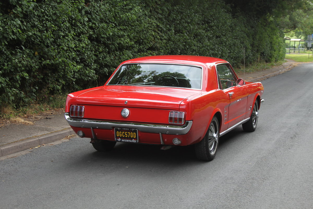 1966 Ford Mustang 289 V8 Coupe - 66k Miles, History from new For Sale (picture 5 of 12)
