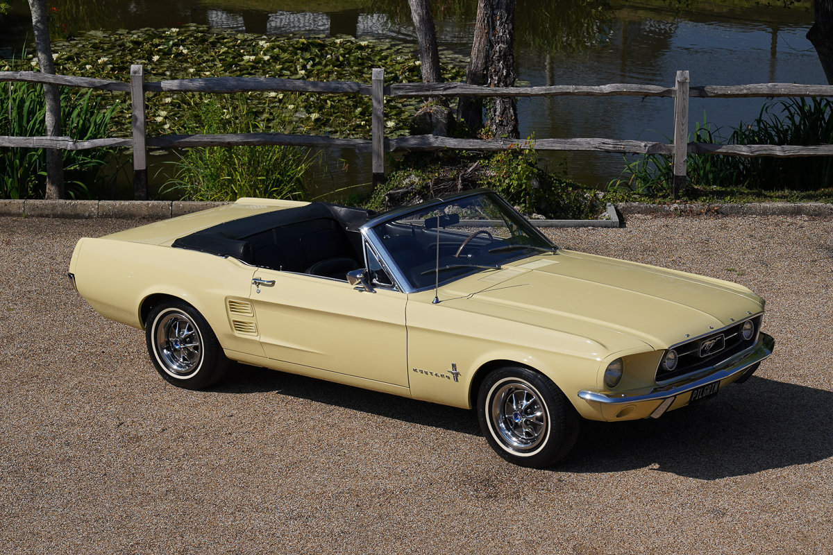 1967 Ford Mustang 289 Convertible Springtime Yellow For Sale (picture 1 of 6)