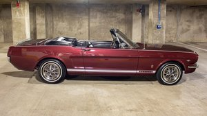 1966 Ford  Mustang GT Convertible = 289 Auto Burgundy $49.9k