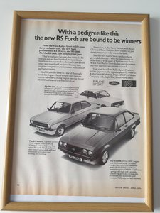 Original 1976 Ford RS advert