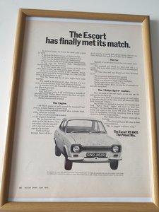 Original 1970 Escort RS1600 Advert