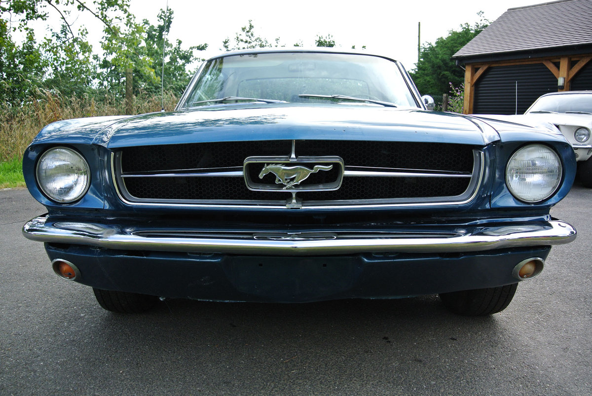 1965 Ford Mustang V8 Auto Metallic Blue PROJECT For Sale (picture 2 of 6)