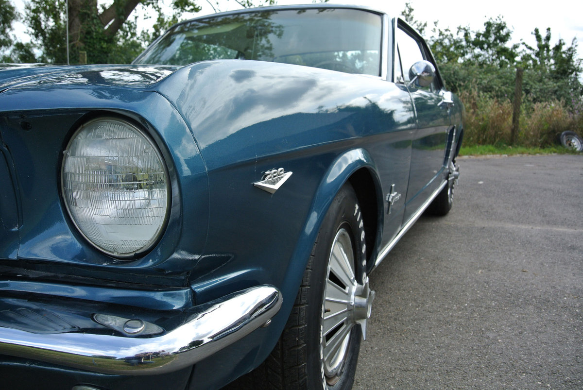 1965 Ford Mustang V8 Auto Metallic Blue PROJECT For Sale (picture 3 of 6)
