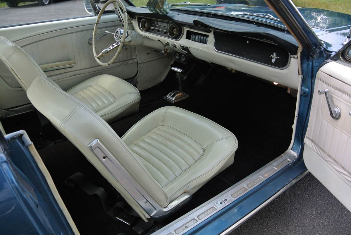 1965 Ford Mustang V8 Auto Metallic Blue PROJECT For Sale (picture 4 of 6)