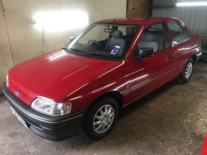 1992 1 owner, 3 Door Ford Escort MK5, 84k miles MOT'd For Sale