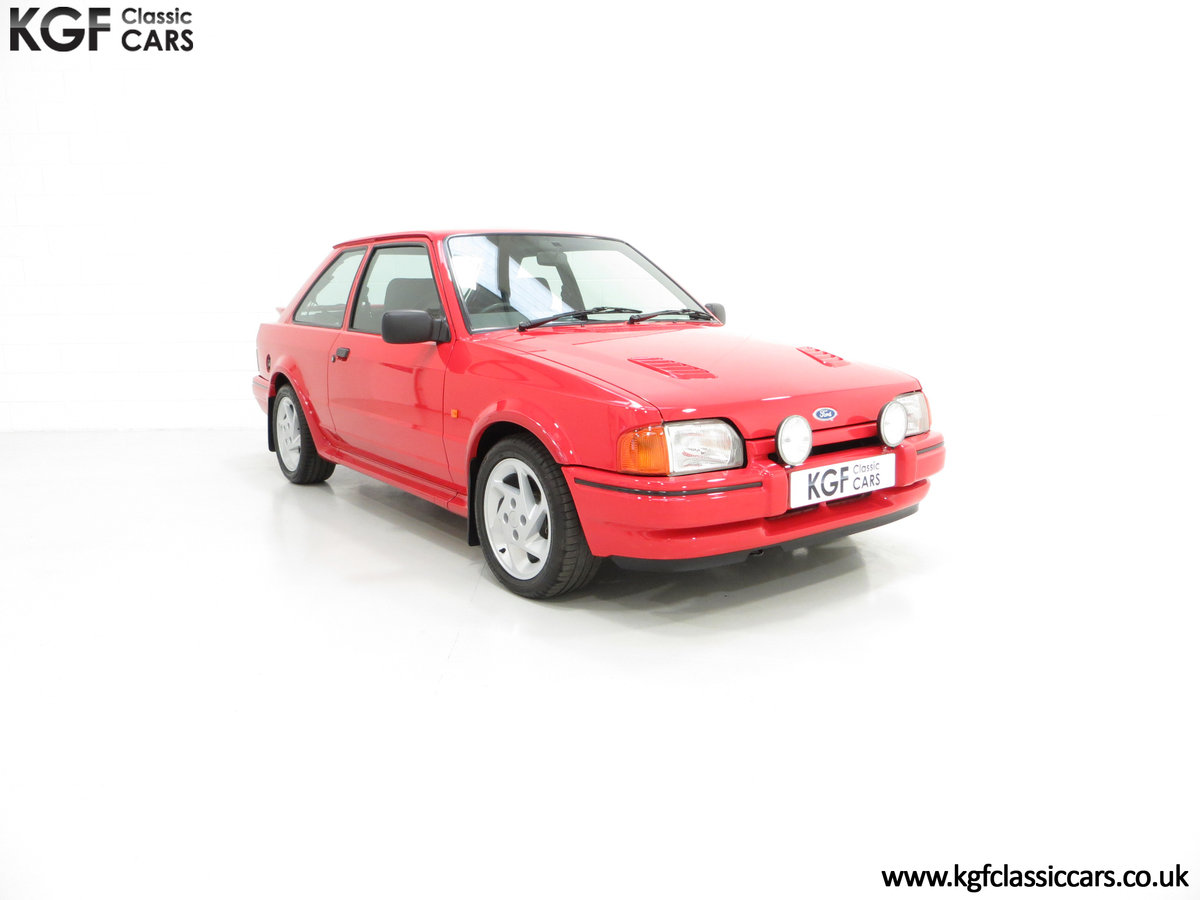 1987 An Immaculate Early Ford Escort RS Turbo Series 2 SOLD (picture 1 of 6)