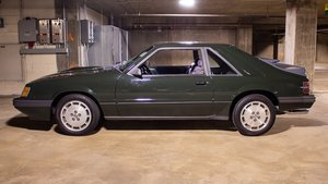 1985 Ford Mustang SVO Hertz  Rare 1 of 10 Green $19.9k For Sale
