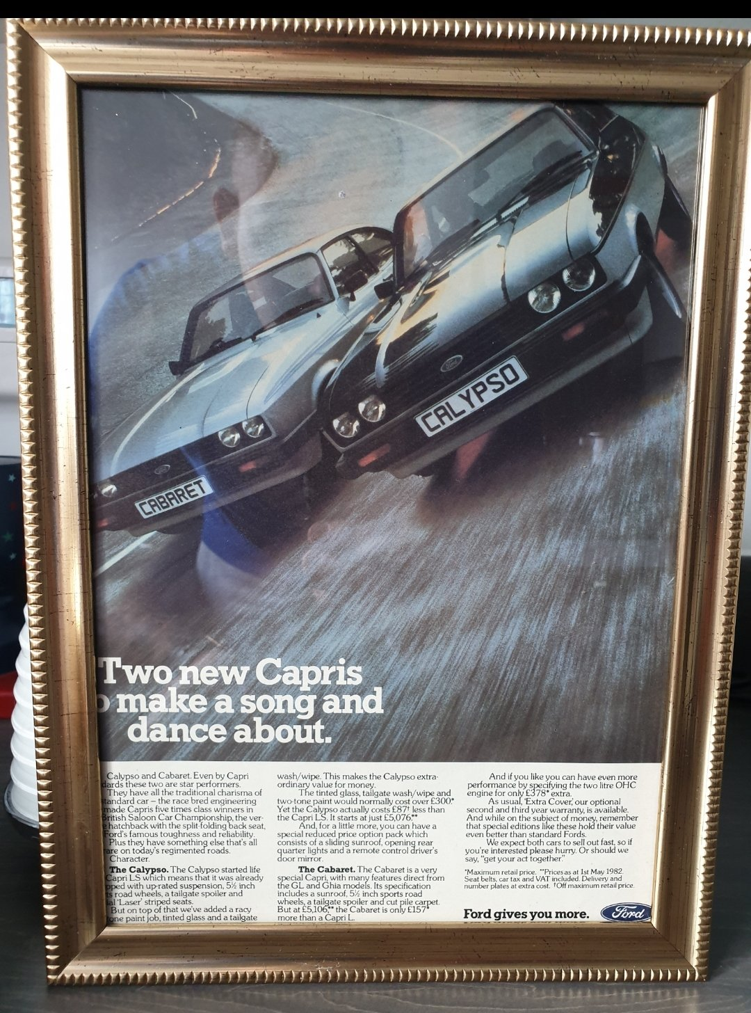 1982 Ford Capri advert Original  For Sale (picture 1 of 3)