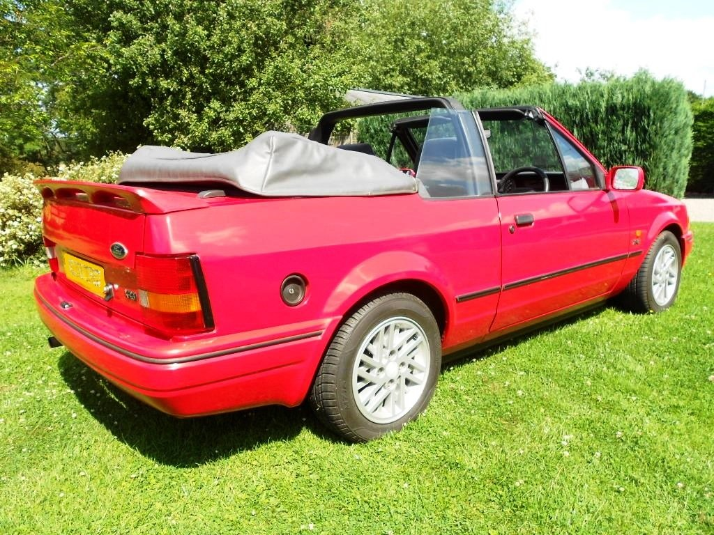 1989 Escort XR3i Cabriolet 22 year hist file + all MOTs For Sale (picture 2 of 6)
