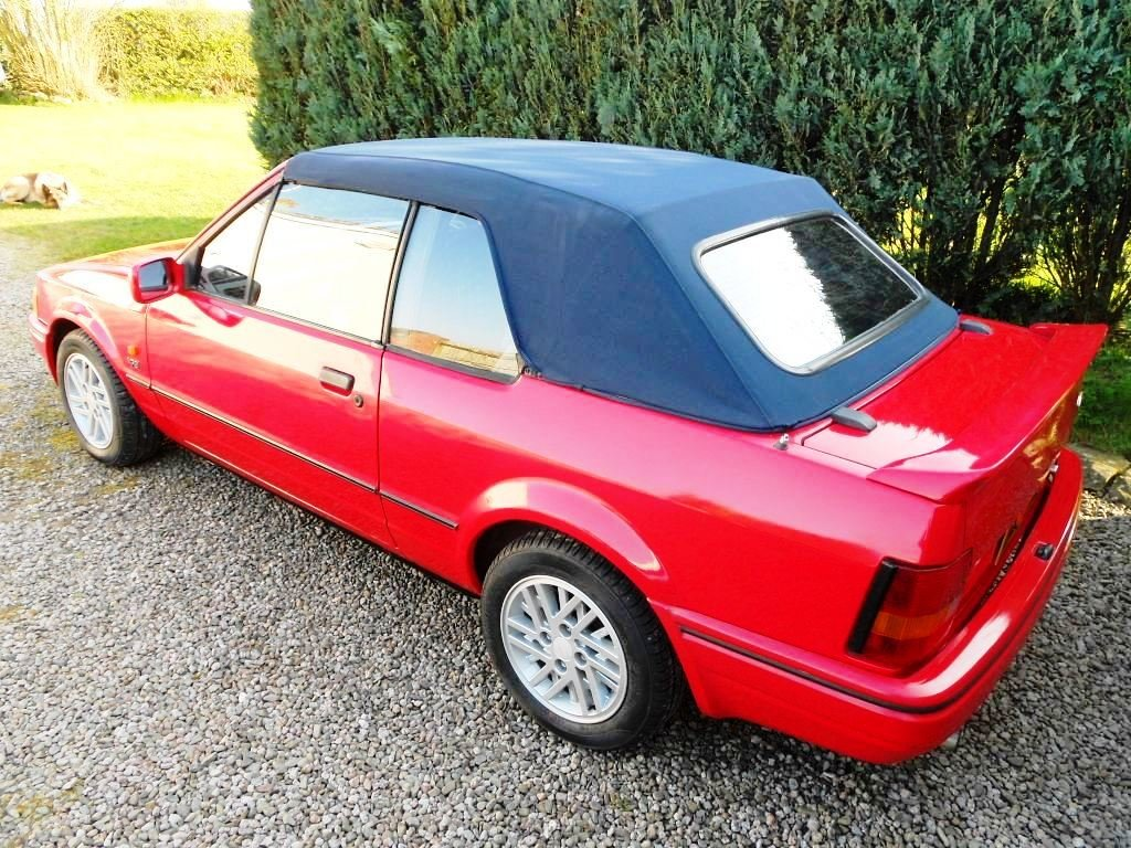 1989 Escort XR3i Cabriolet 22 year hist file + all MOTs For Sale (picture 5 of 6)