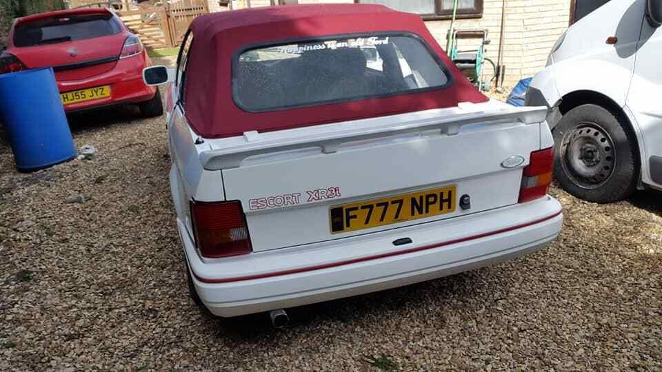 1988 Ford Escort Cabriolet XR3i or swap  E30 cabriolet  For Sale (picture 2 of 6)