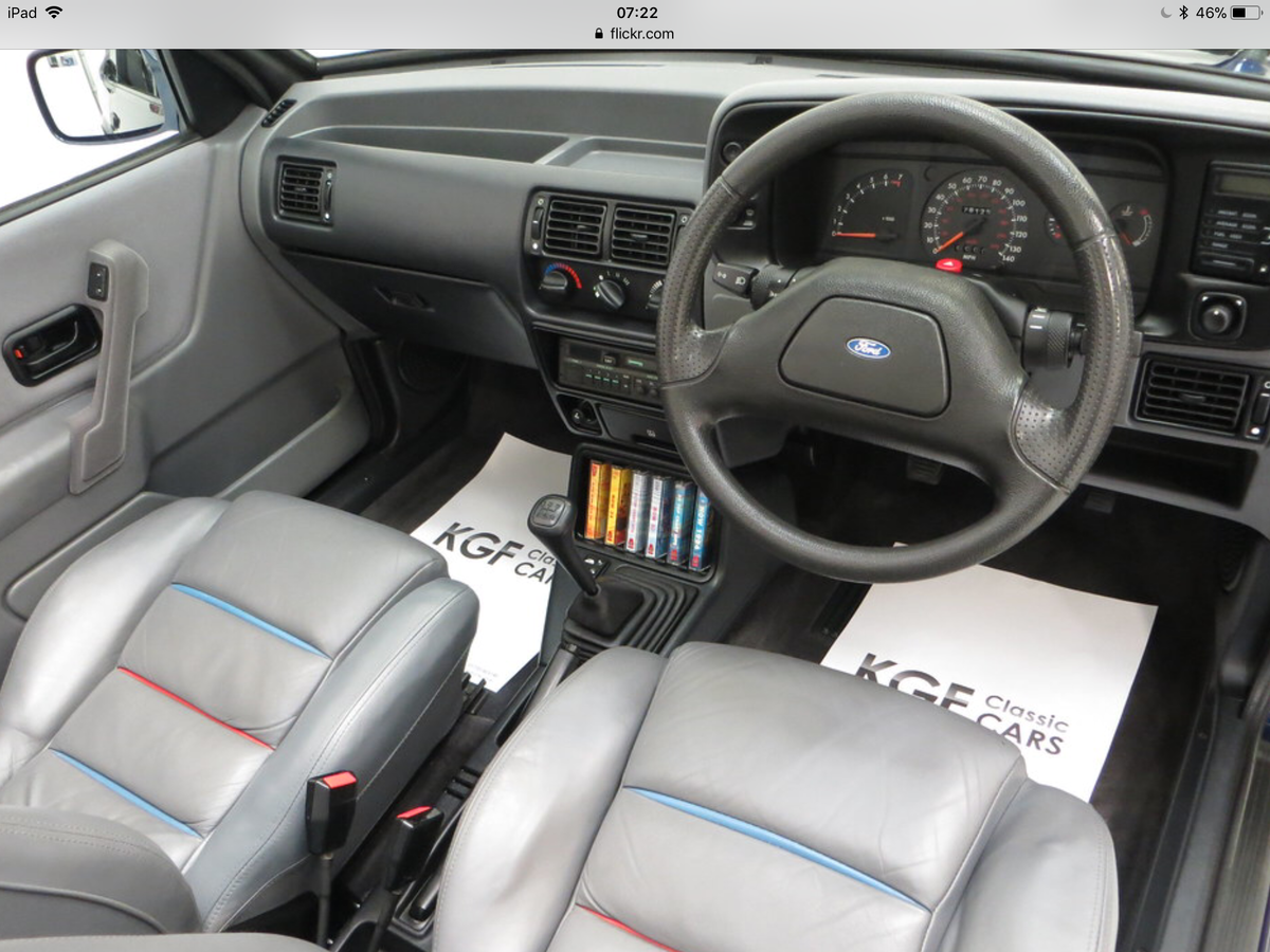 1990 Ford Escort XR3i special edition For Sale (picture 3 of 5)