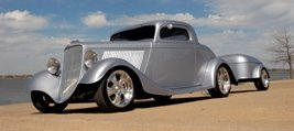 1934 Ford 3 Window Coupe Custom Fast LT1 + Trailer $67.5k For Sale