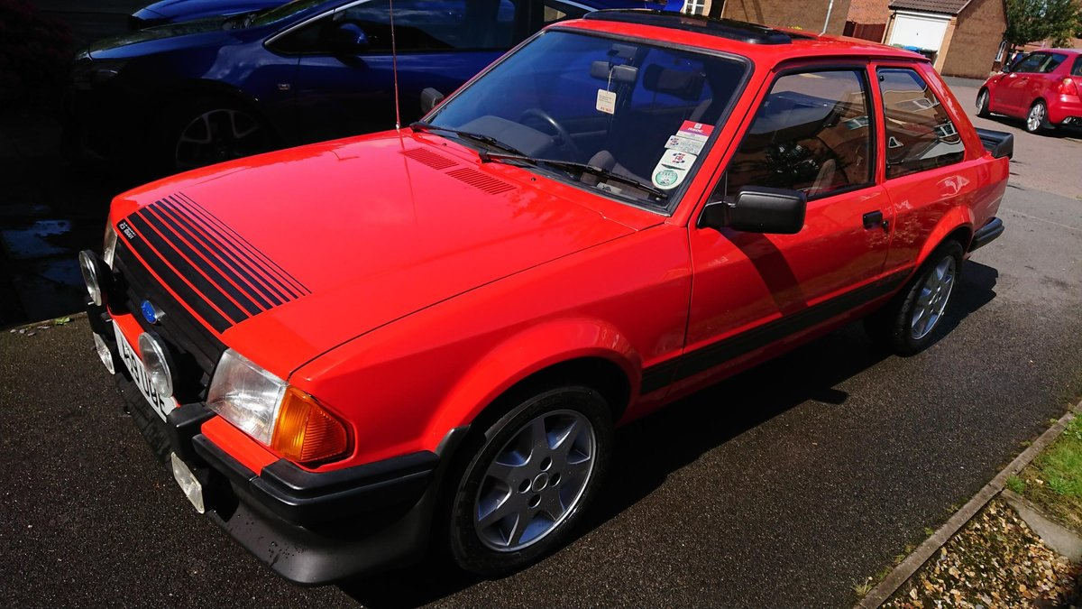 1983 Ford Escort Mk3 RS1600i Sunburst Red For Sale | Car And Classic