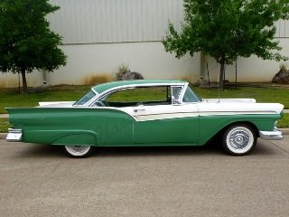 1957 Ford Fairlane 500 HardTop = Go Green(~)Ivory $24k  For Sale