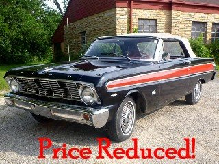 1964 Ford Falcon Convertible = 260 V-8 Auto AC Black $17.5k For Sale