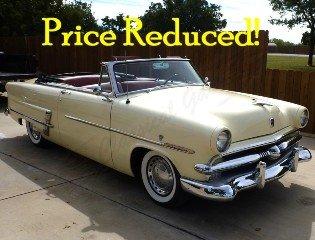 1953 Ford Crestline Sunliner Convertible Restored $39.5k For Sale