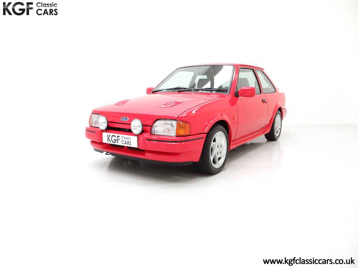 1989 A Ford Escort RS Turbo Series 2 with 37,759 Miles SOLD (picture 2 of 6)