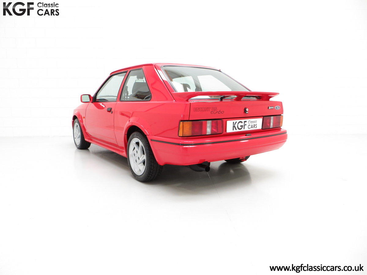 1989 A Ford Escort RS Turbo Series 2 with 37,759 Miles SOLD (picture 4 of 6)