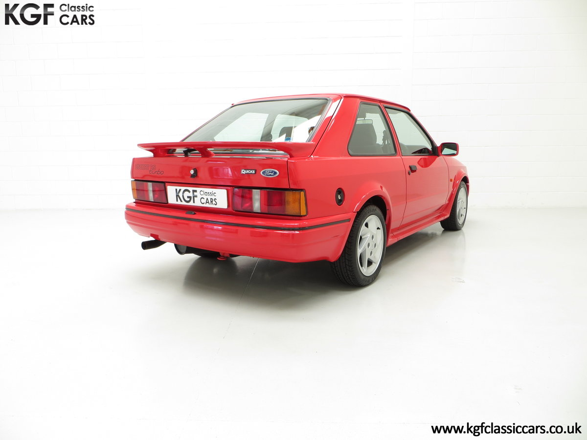 1989 A Ford Escort RS Turbo Series 2 with 37,759 Miles SOLD (picture 5 of 6)