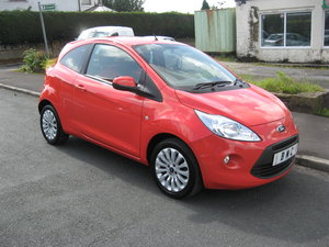 2013 13-reg Ford Ka 1.2 Zetec 3Dr manual in red For Sale